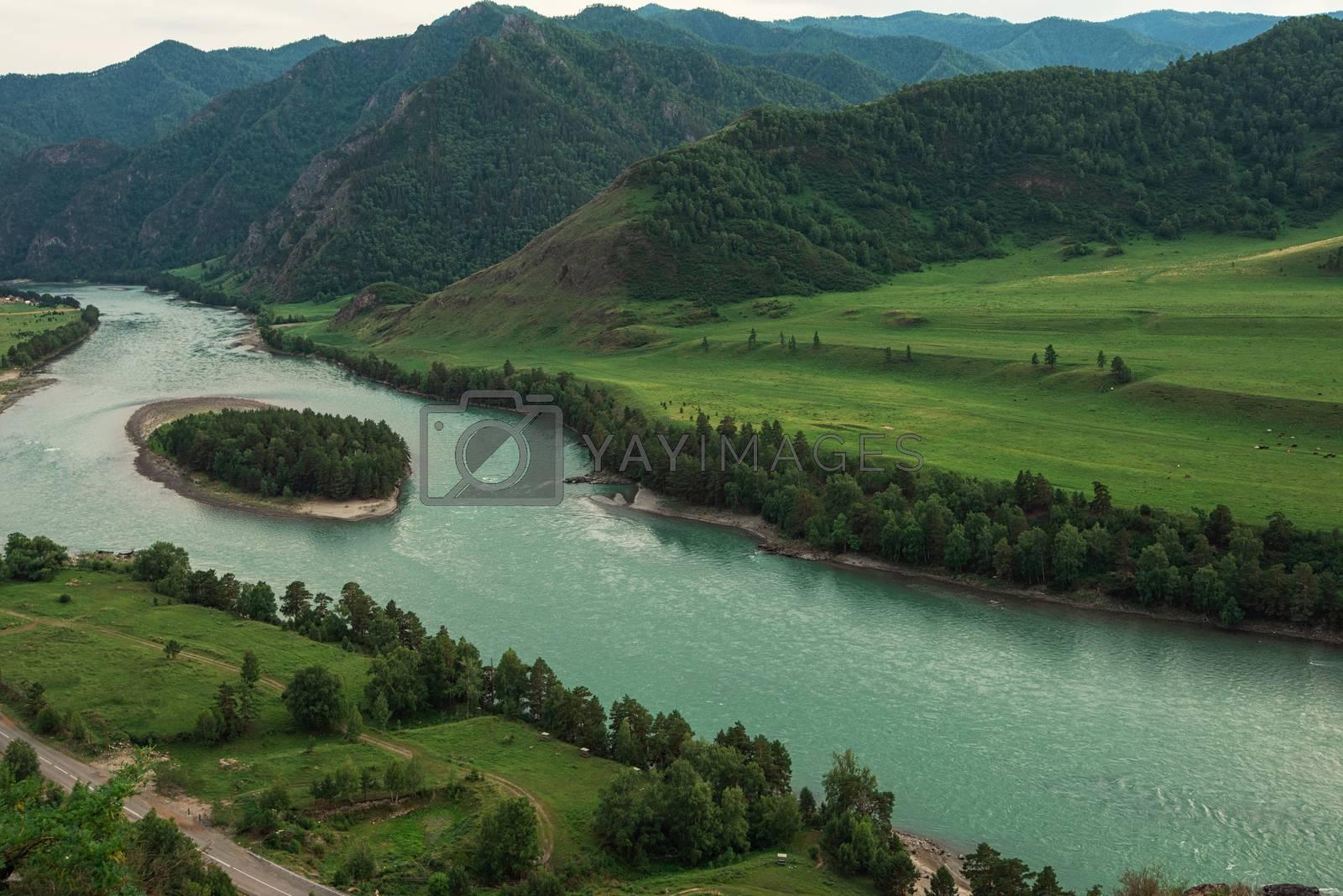 Waterfall Che-Chkish in Altai Mountains territory, West Siberia, Russia