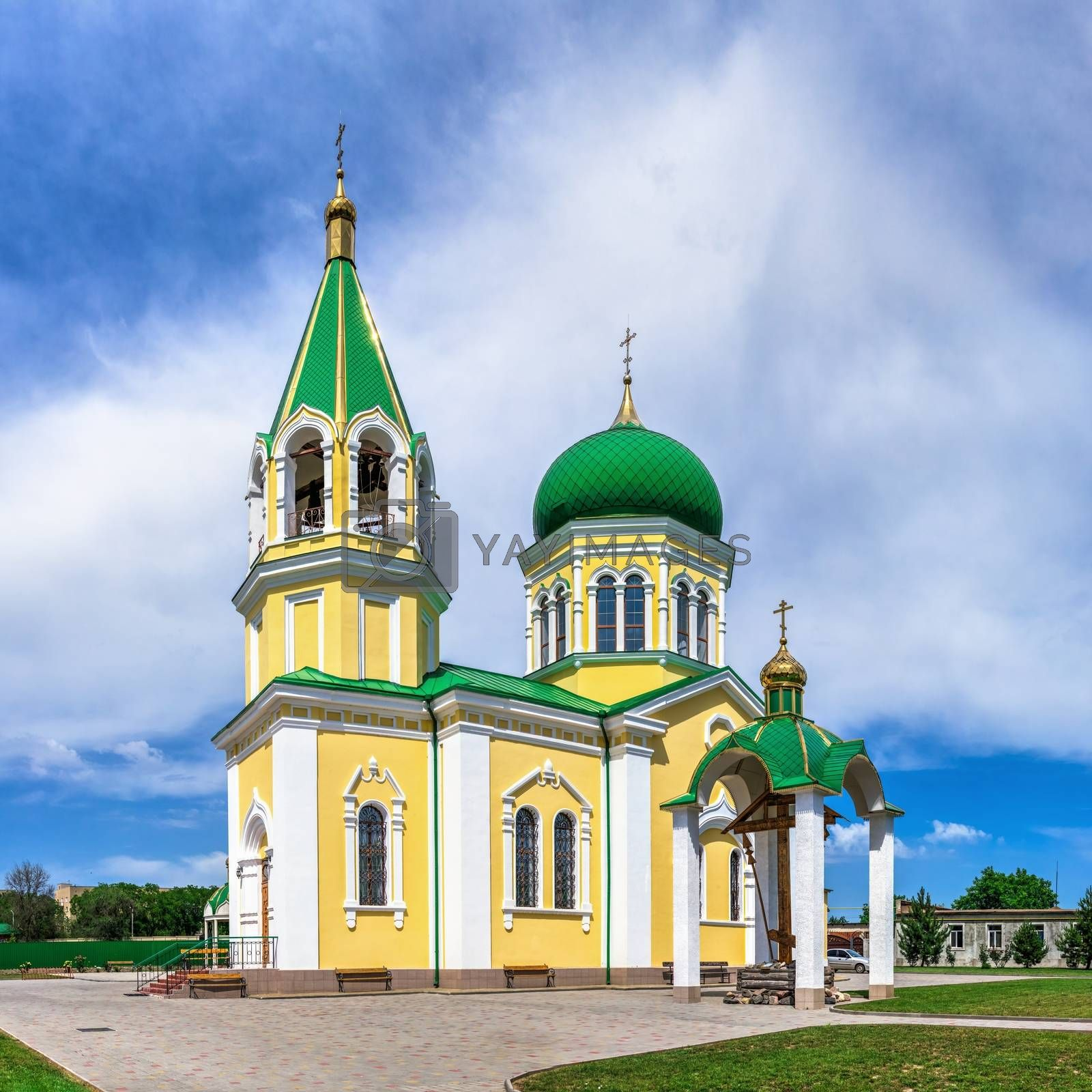 Izmail, Ukraine 06.07.2020. St Nicholas Church in Izmail, Ukraine, on a sunny summer day