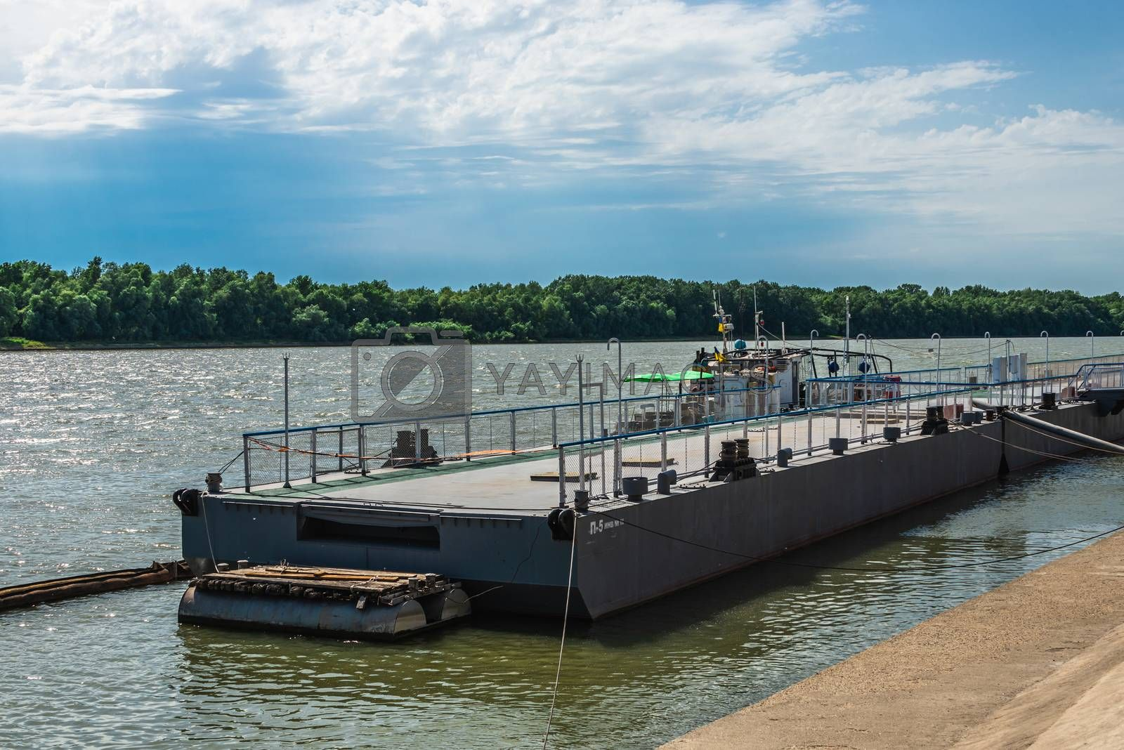 Izmail, Ukraine 06.07.2020. City Embankment on the Danube River in the city of Izmail, Ukraine, on a sunny summer day