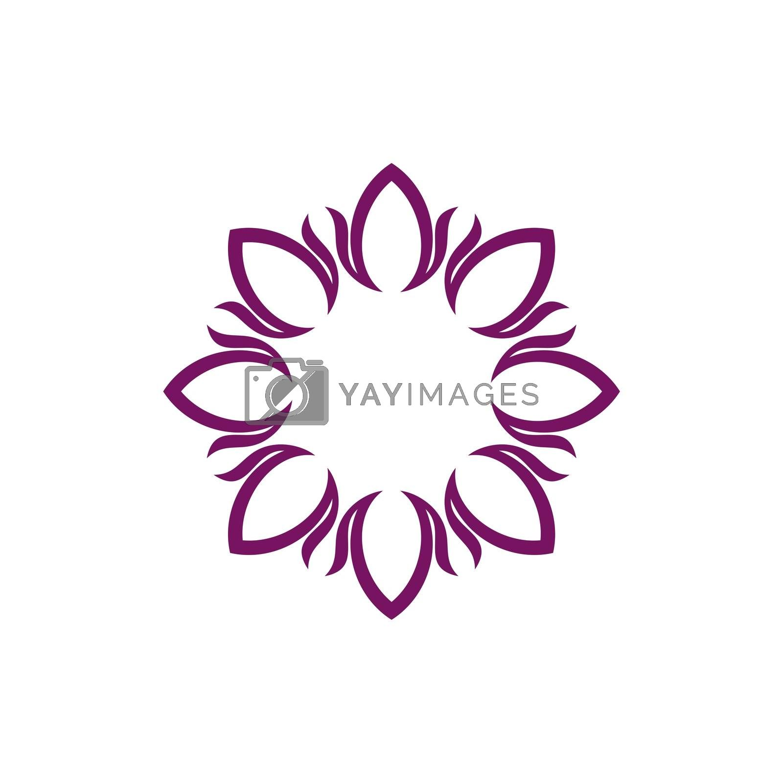 Abstract Purple Circle Flower Logo Template Illustration Design. Vector EPS 10.