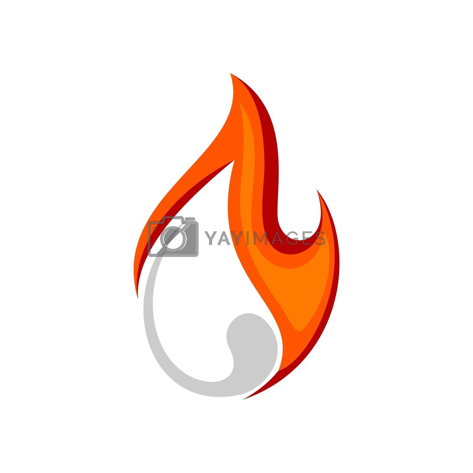Orange Flame vector Logo Template Illustration Design. Vector EPS 10.