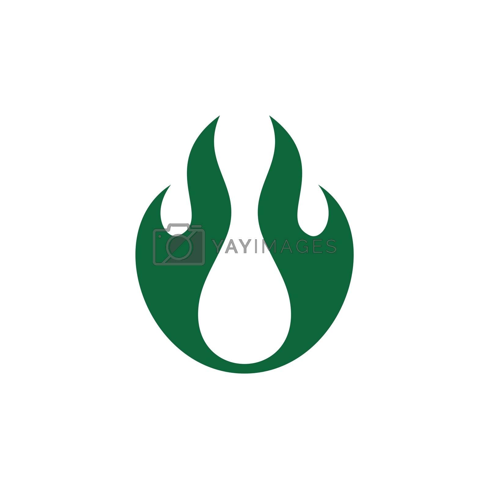 Green Flame Spirit Logo Template Illustration Design. Vector EPS 10.