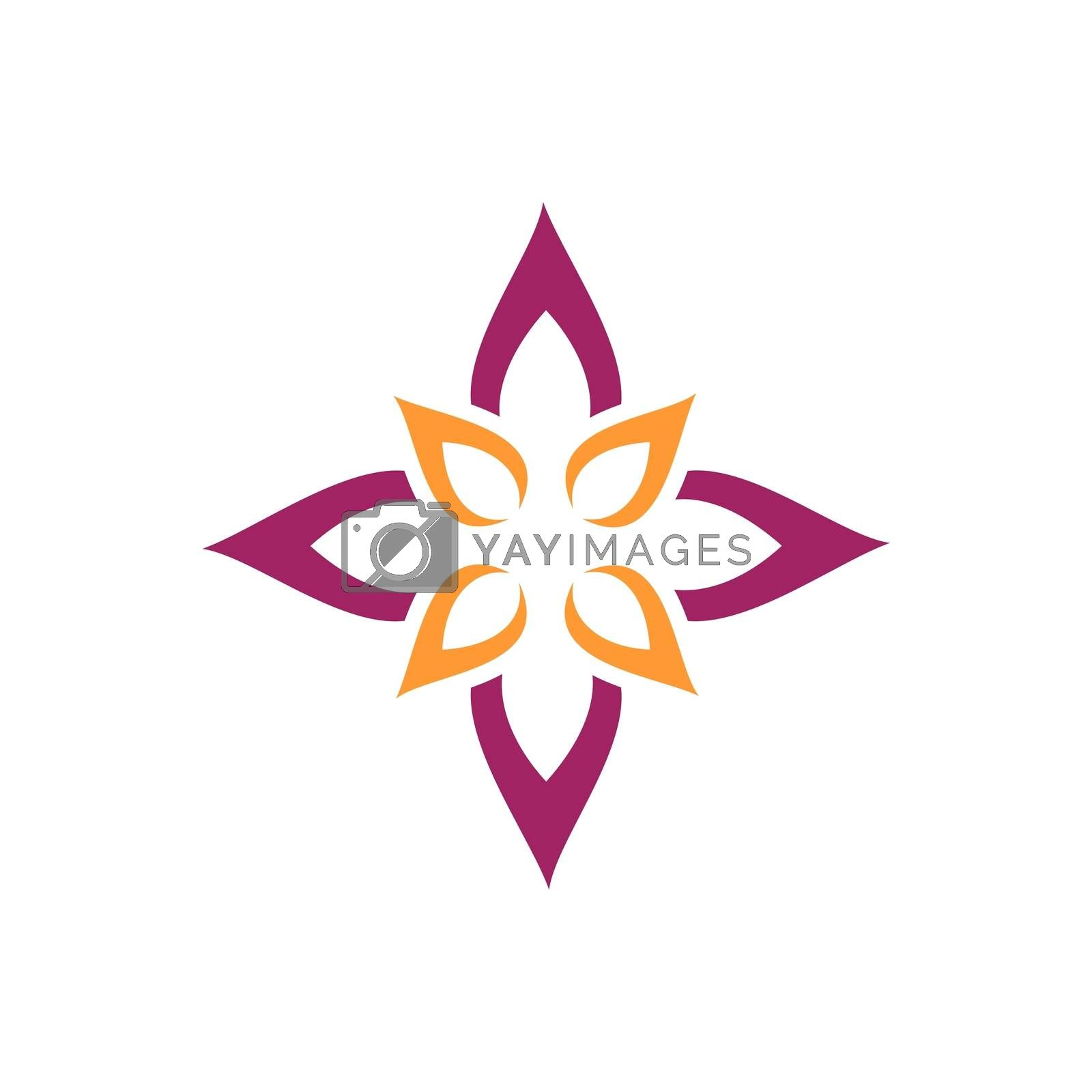 Star Flower for Spa Logo or Pattern Illustration Design. Vector EPS 10.