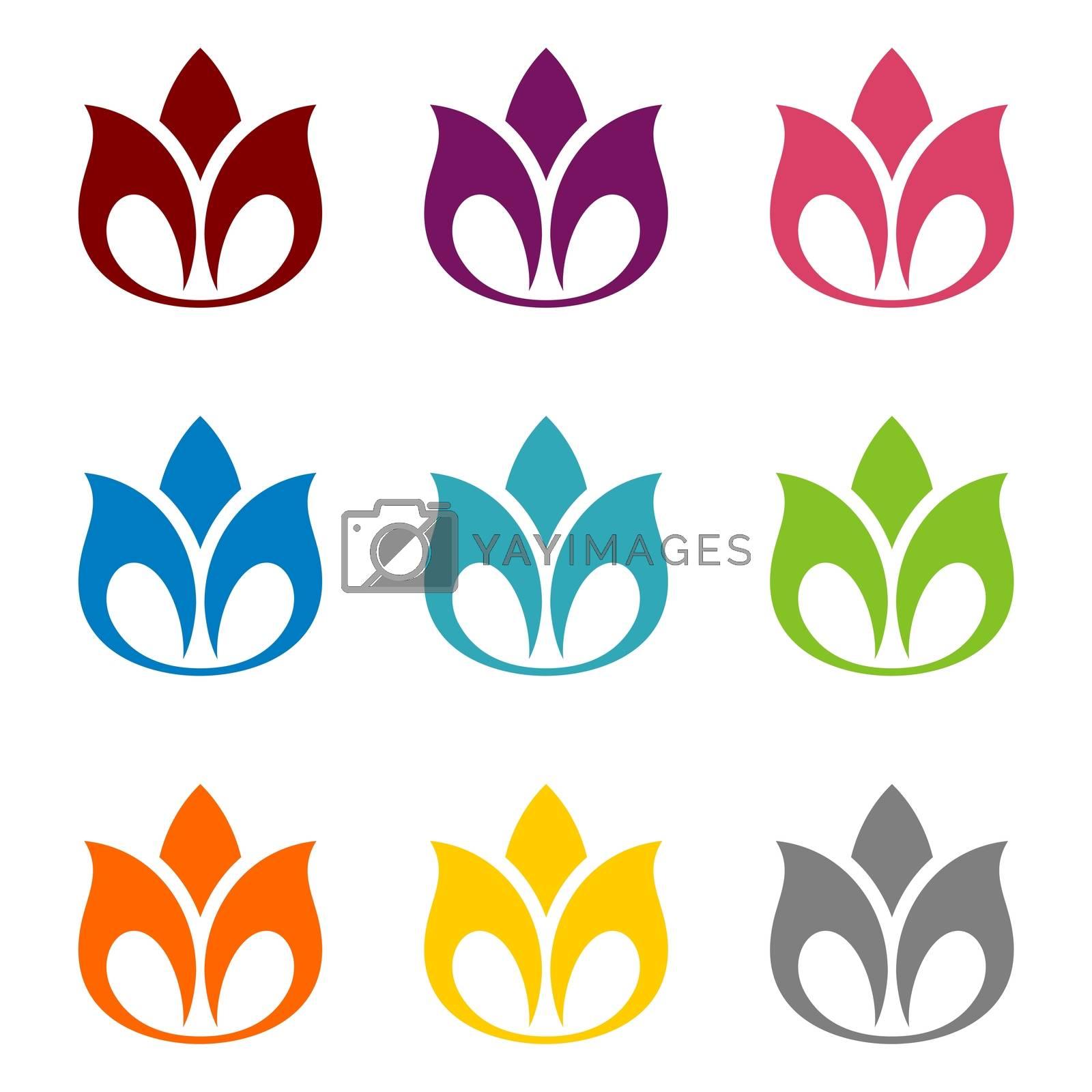 Lotus Flower Ornamental Logo Template Illustration Design. Vector EPS 10.