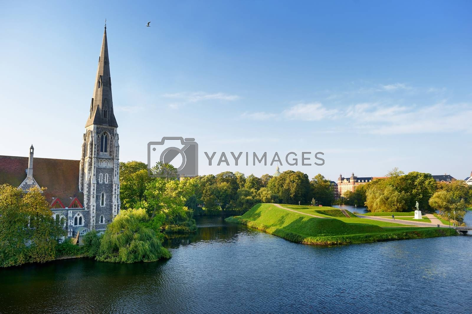 Royalty free image of St Alban's church in Copenhagen by maximkabb