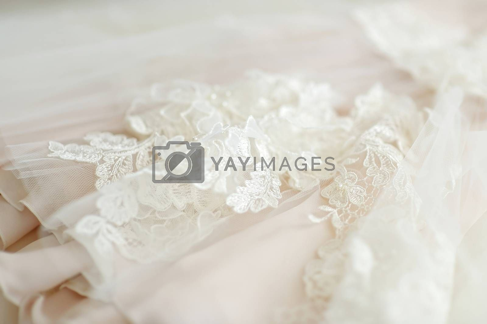 Royalty free image of Beautiful wedding dress decoration by maximkabb