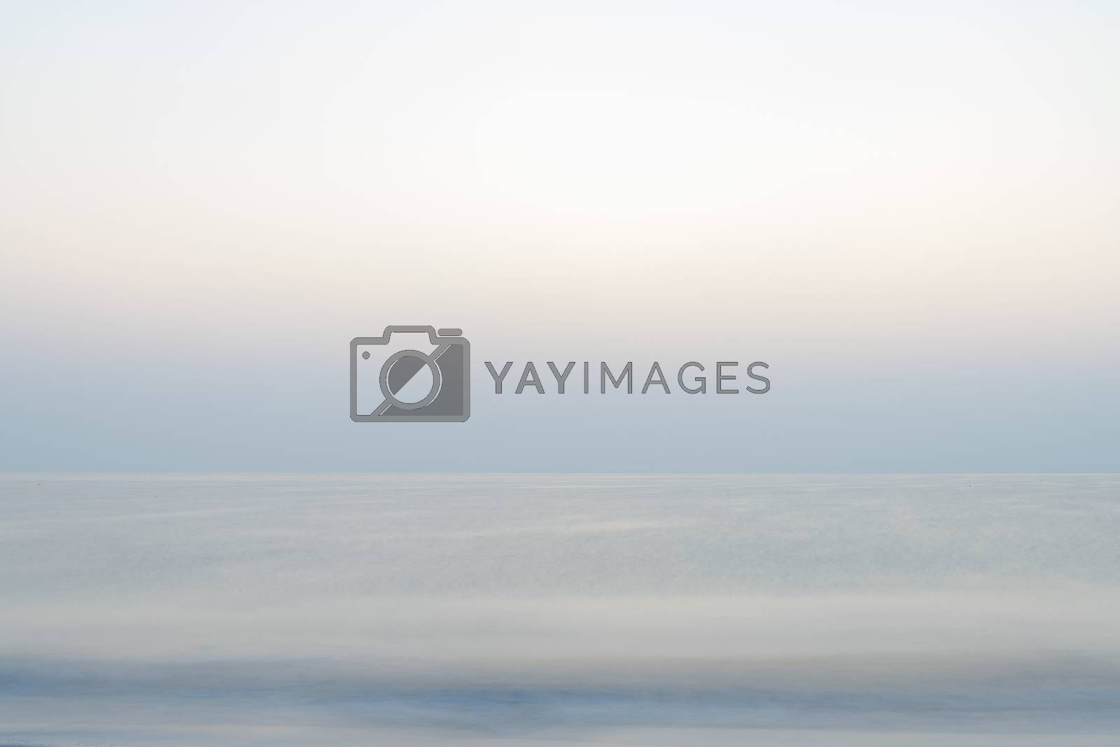 Blurry Sea Landscape Background of the Indian Ocean at sunrise, Sultanate of Oman