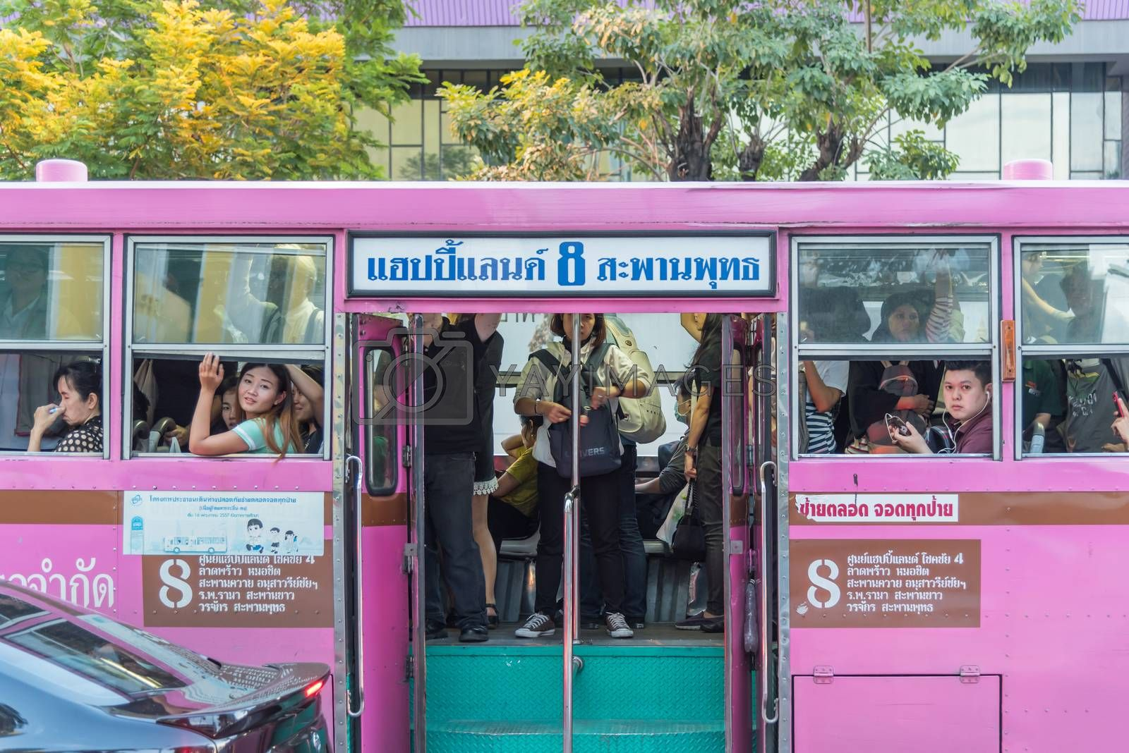 Bus in Bangkok Thailand by PongMoji