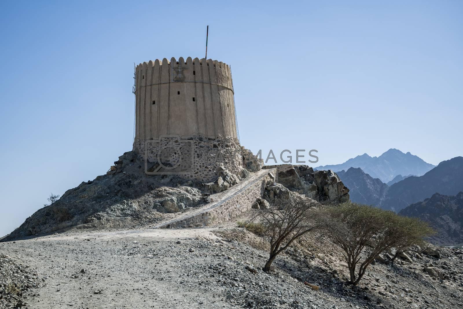 Ancient Watchtower in Hatta, Dubai Emirates, United Arab Emirates
