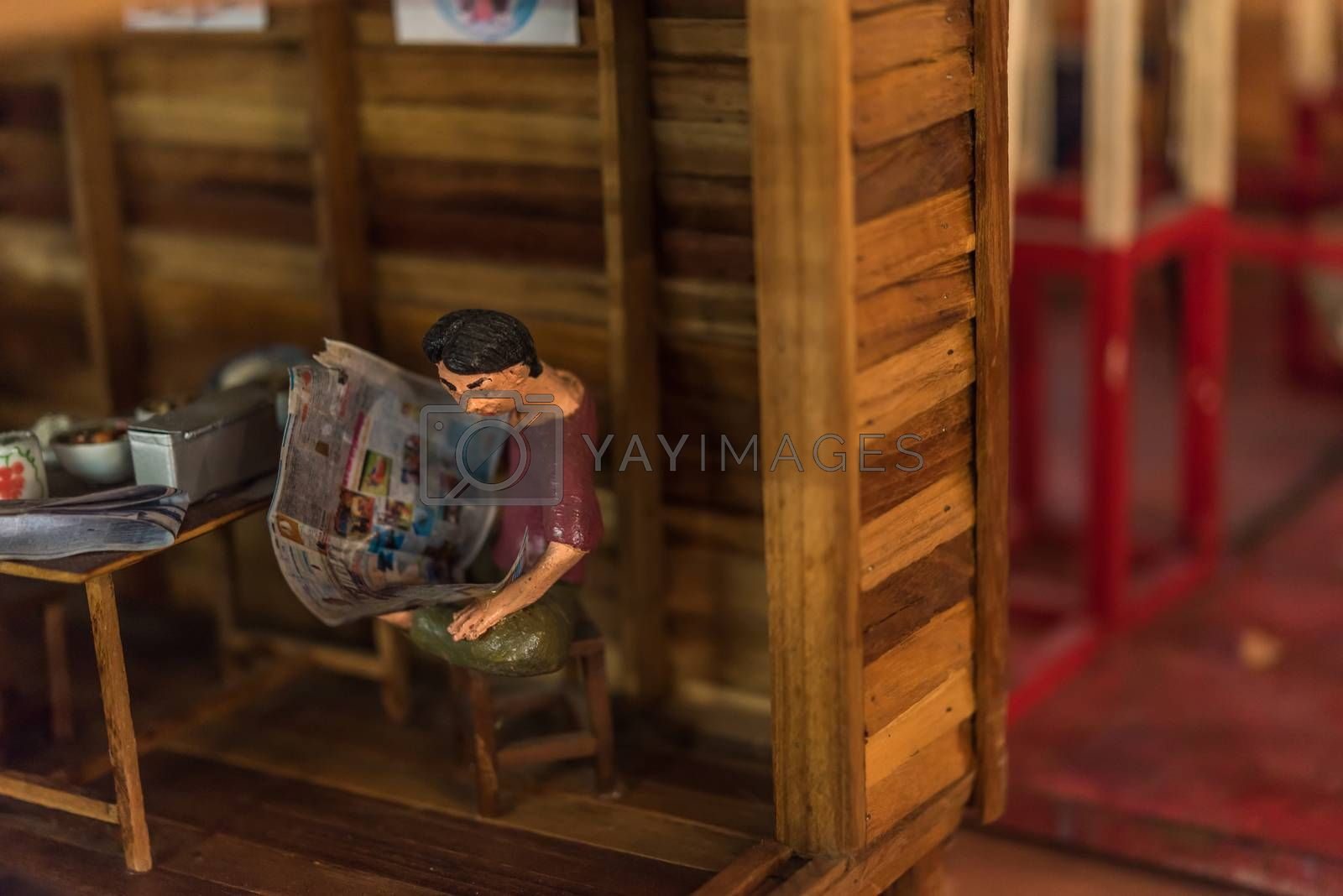 Asian clay doll with ancient lifestyle model by PongMoji