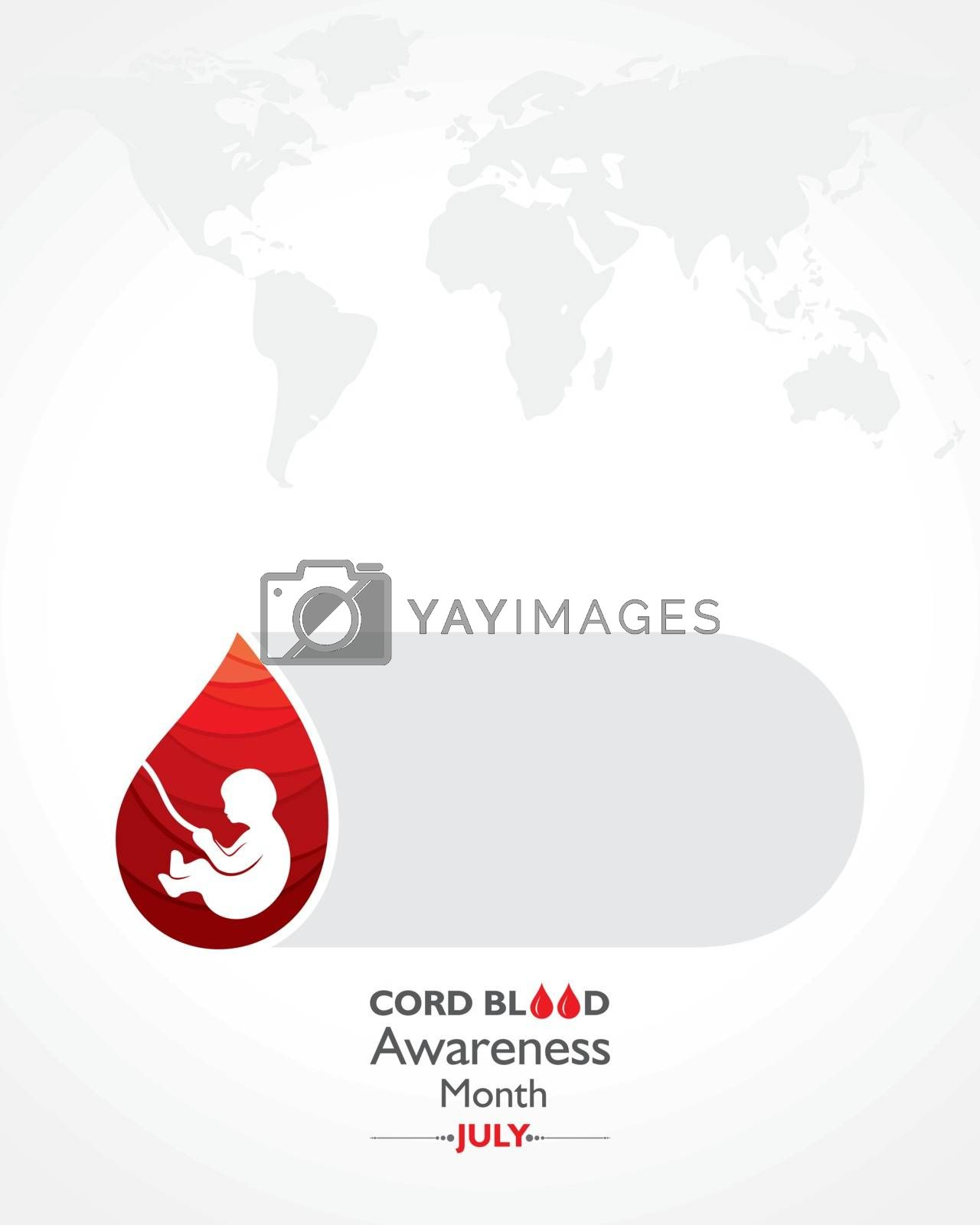 Vector illustration for Cord Blood awareness month observed in July Every Year