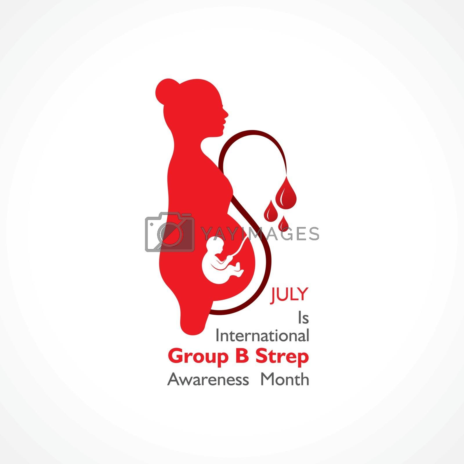 Vector Illustration for International Group B Strep Throat Awareness Month observed in JULY