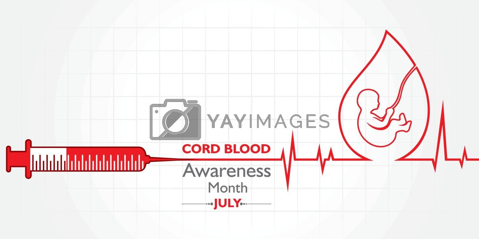 Cord Blood awareness month observed in July Every Year by graphicsdunia4you