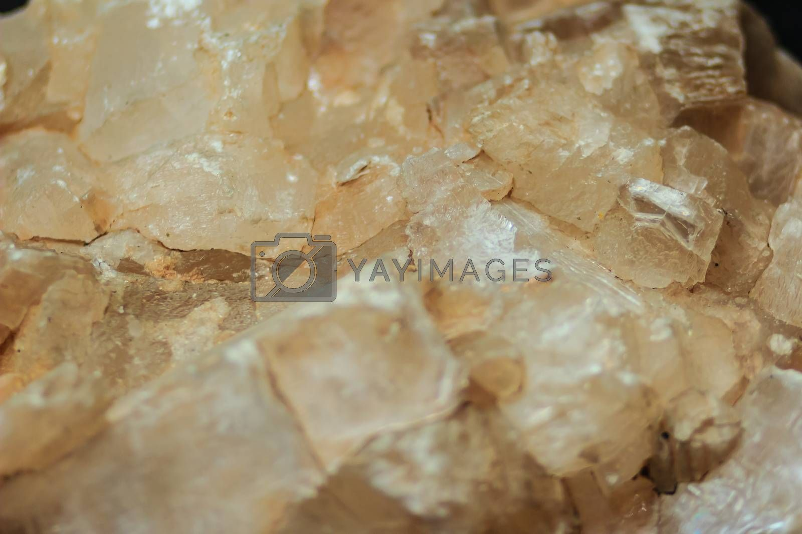 Gypsum lamellar habit or lamellar crystals of gypsum rock specimen from mining and quarrying industries. Gypsum is a soft sulfate mineral composed of calcium sulfate dihydrate.