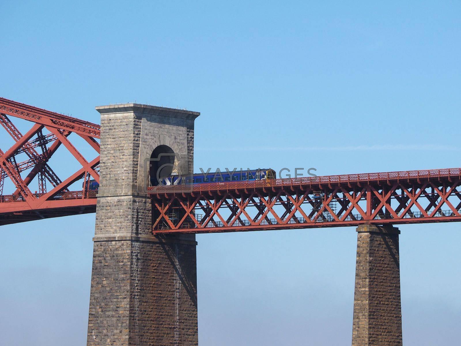 Forth Bridge over Firth of Forth in Edinburgh by claudiodivizia