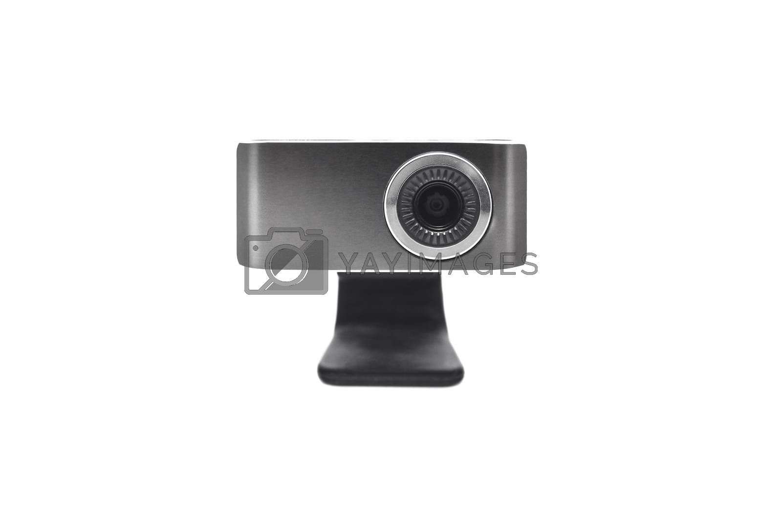 Web camera close-up isolated on a white background by Nickstock