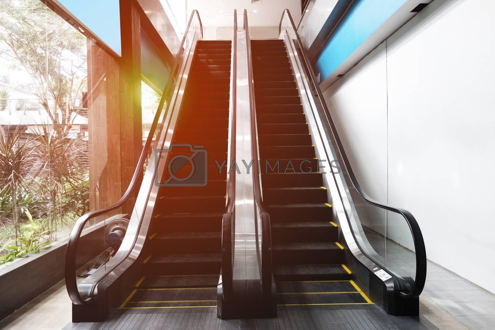 escalator in the indoor, urban landscape by Kingsman911