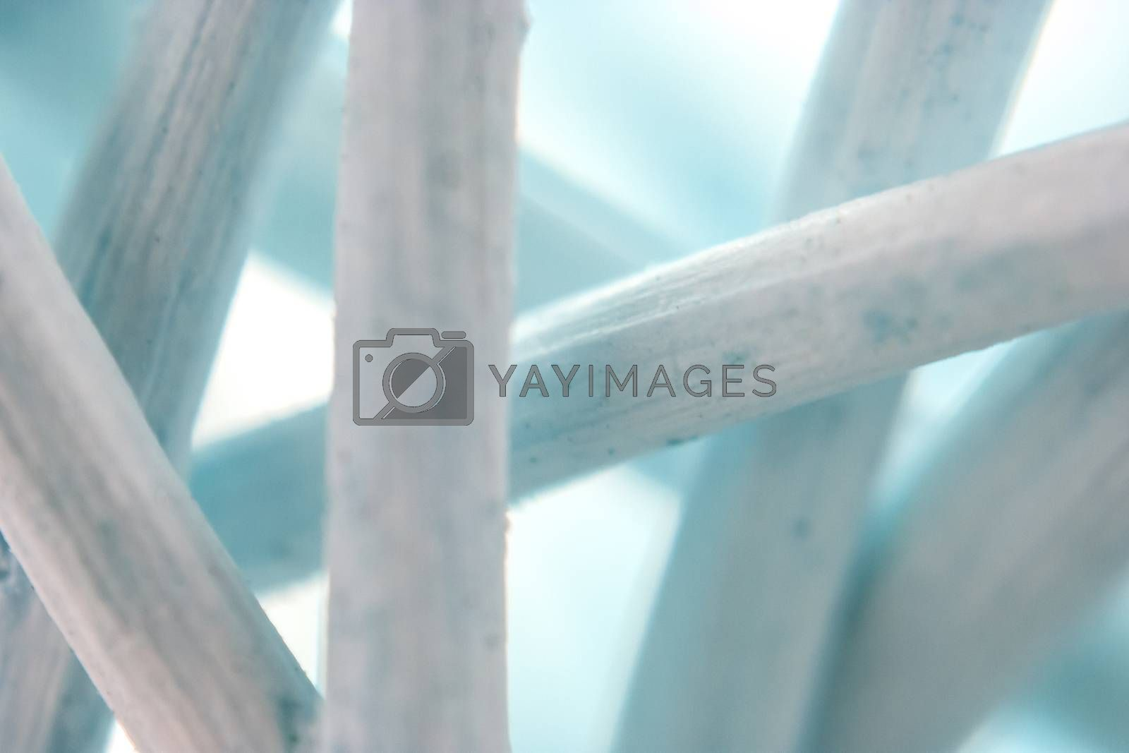 Creating artistic colored background from macro shot of dried woven vegetal fiber microscope photography