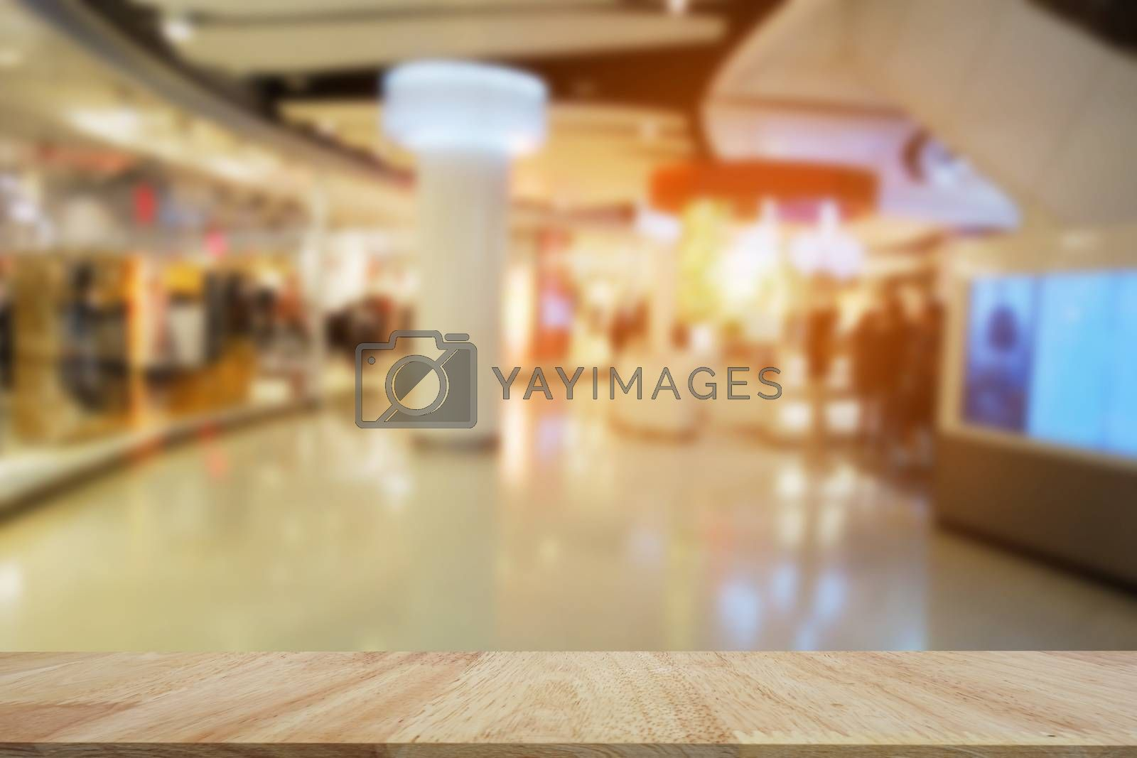 Abstract blur shopping mall store interior for background.Blurred shopping mall background