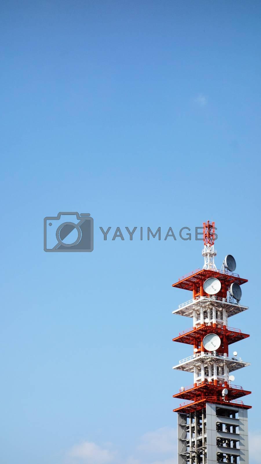 Telecommunication Antenna on Background by Kingsman911