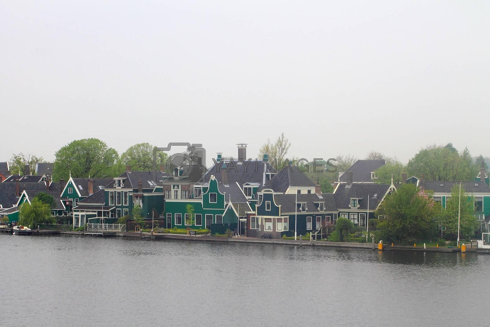 Houses in Zaanse Schans, Netherlands