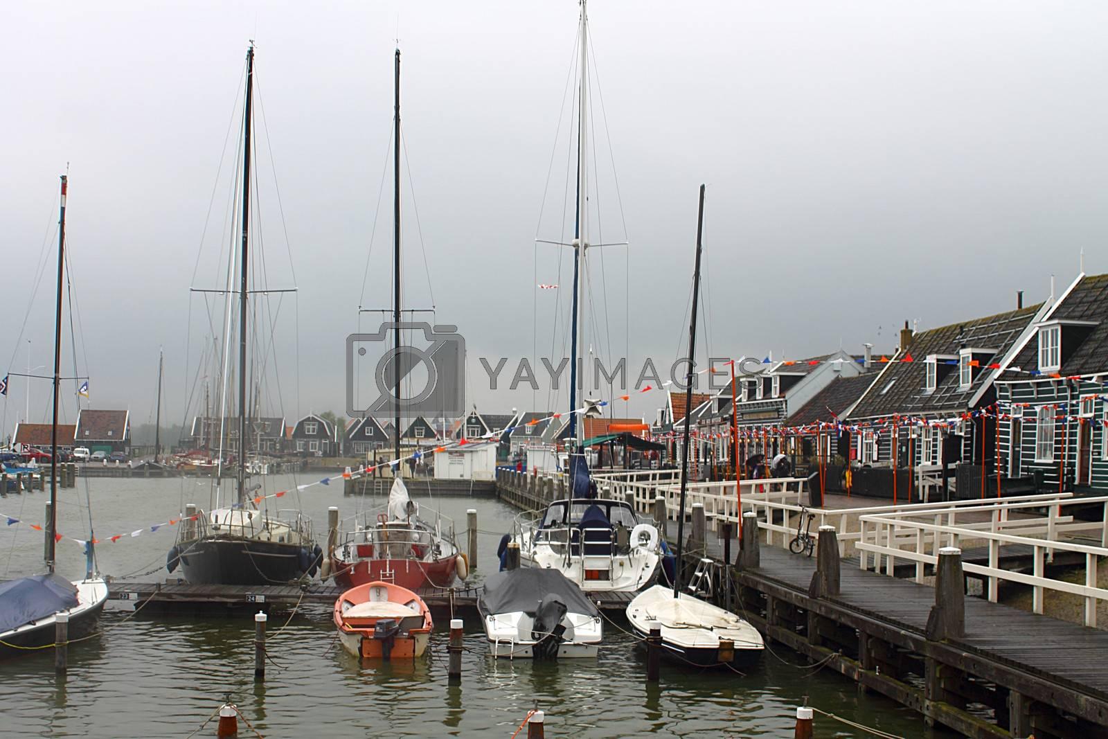 Marken, the harbor.North Holland, Netherlands