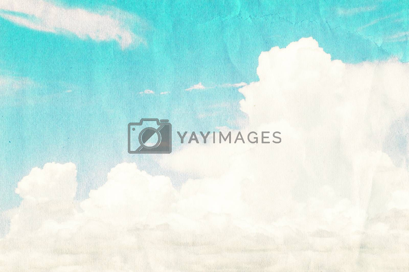The grunge Clouds sky background