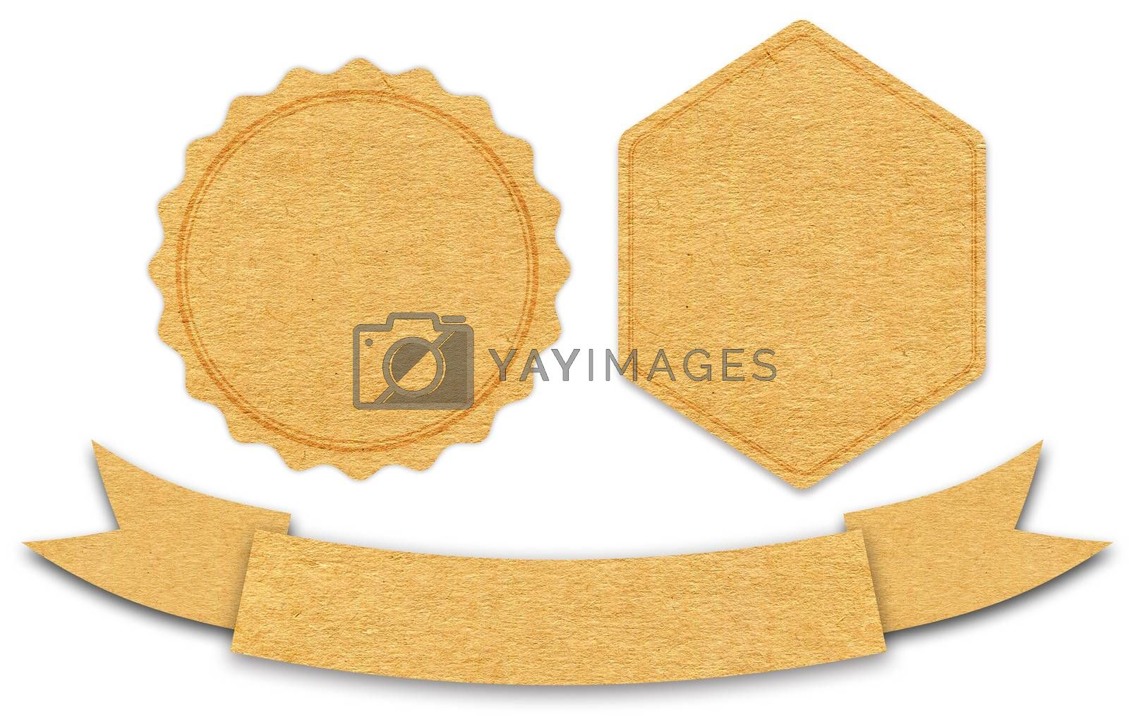 Vintage Paper Label isolated on white background