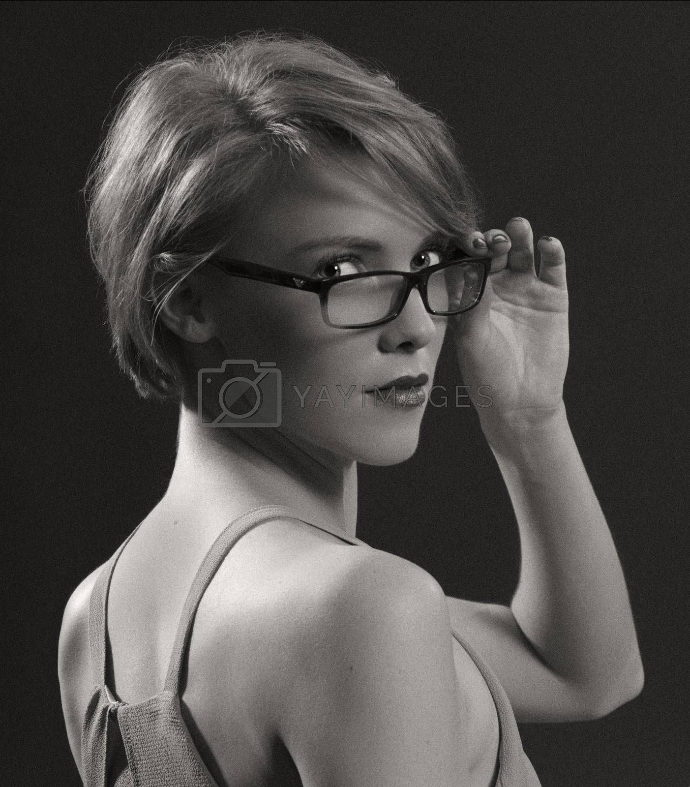 Pretty Girl with Glasses