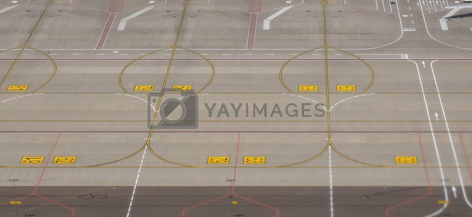 empty airport runway by claudiodivizia