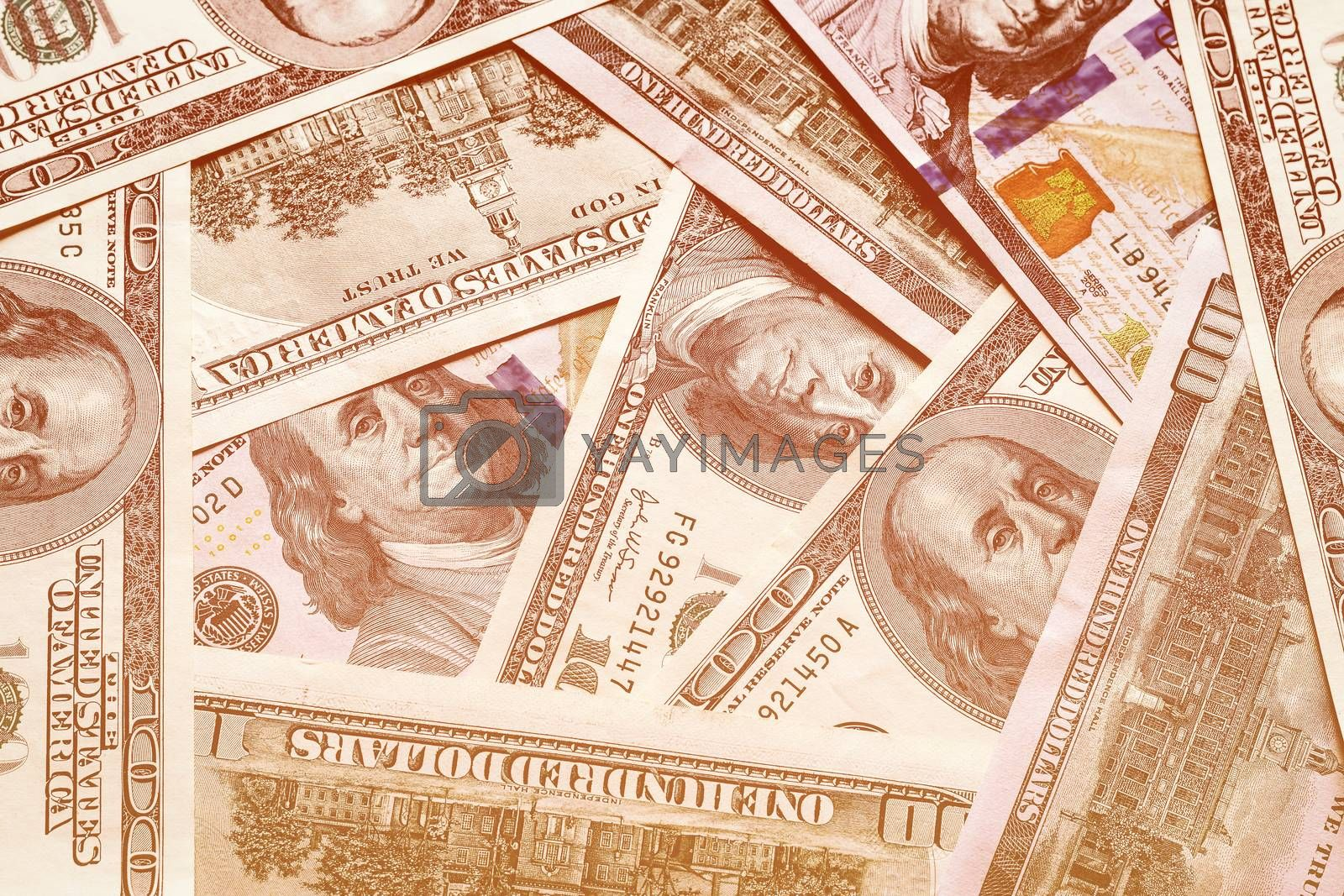 Background with money american dollar bills. by Eugene Yemelyanov