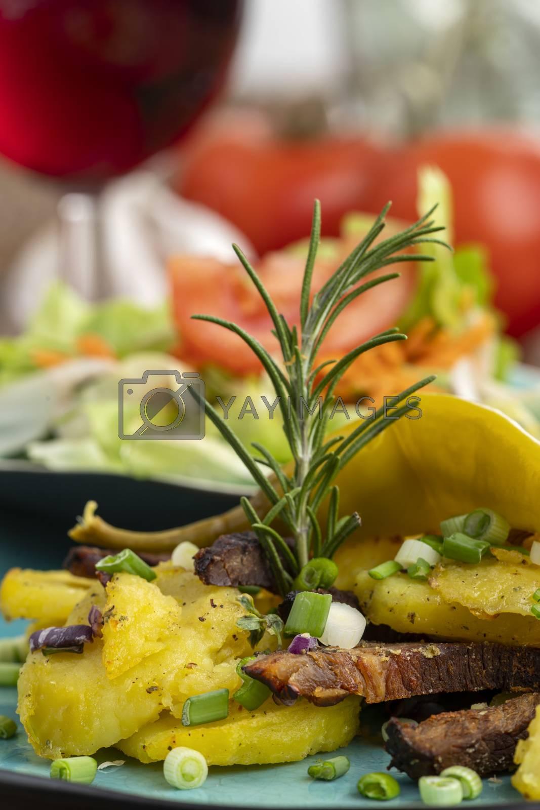 austrian potato groestl with red wine