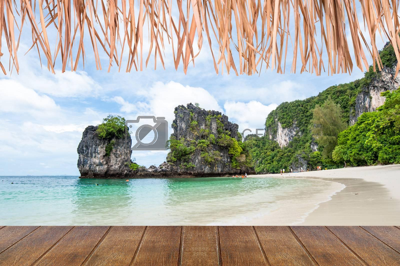 White sand beach on the hong island ,Krabi,Thailand