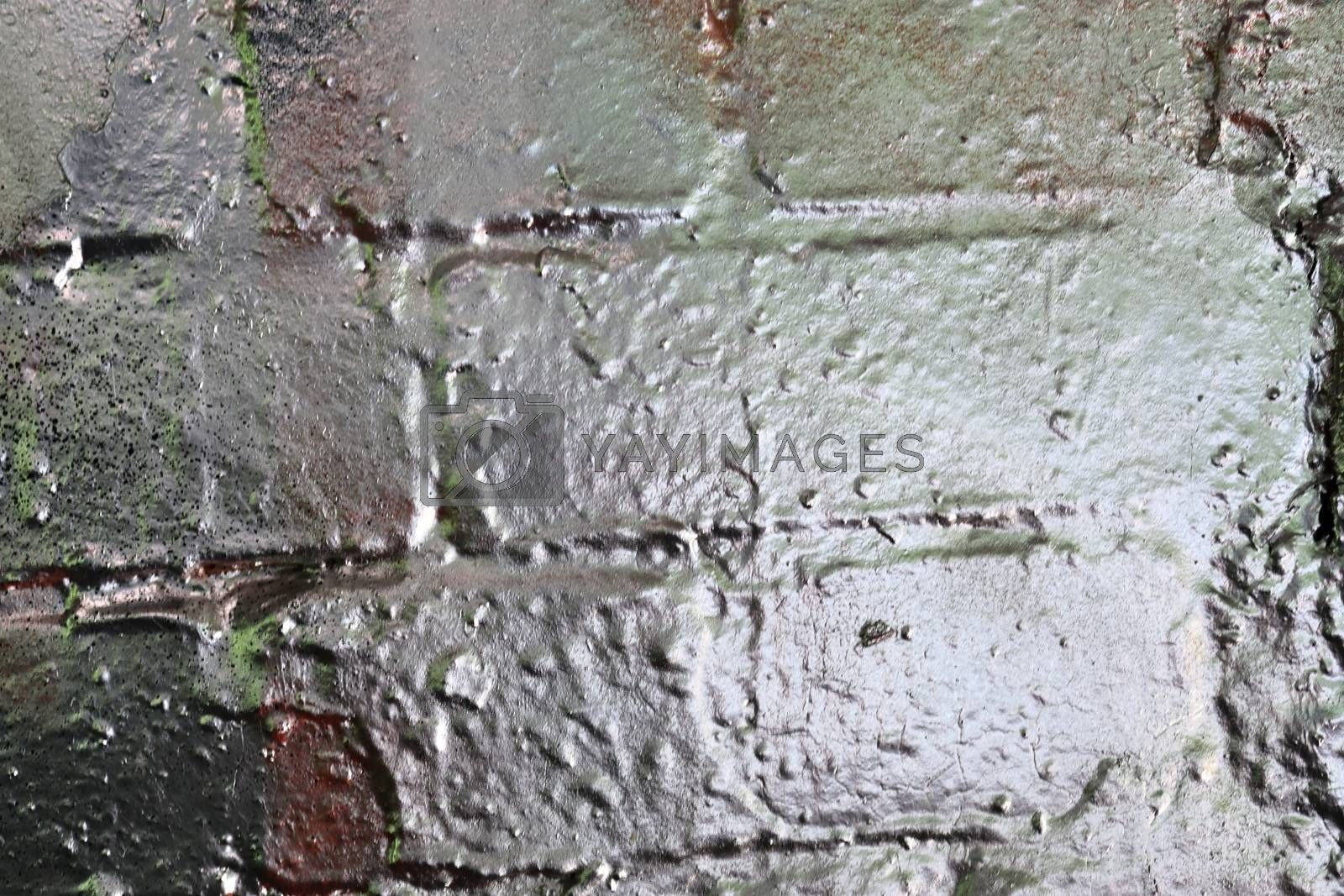 Texture of colorful graffiti paint on conrete and brick walls in by MP_foto71