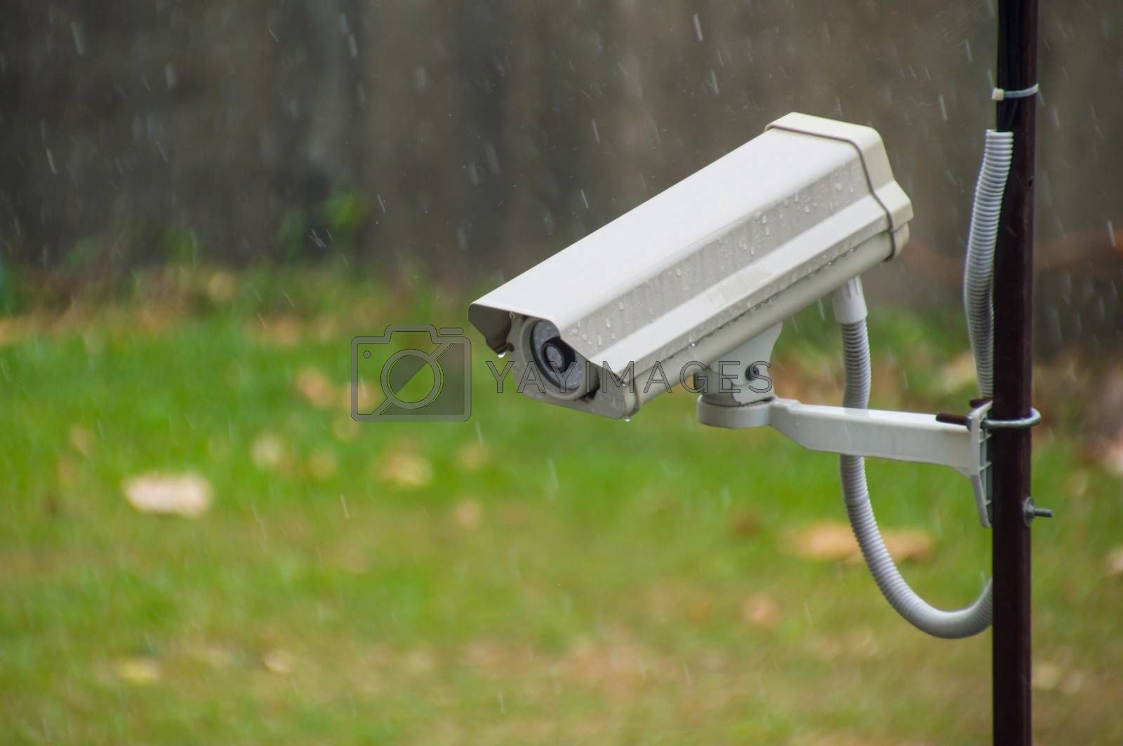 CCTV security camera in raining by Nu1983