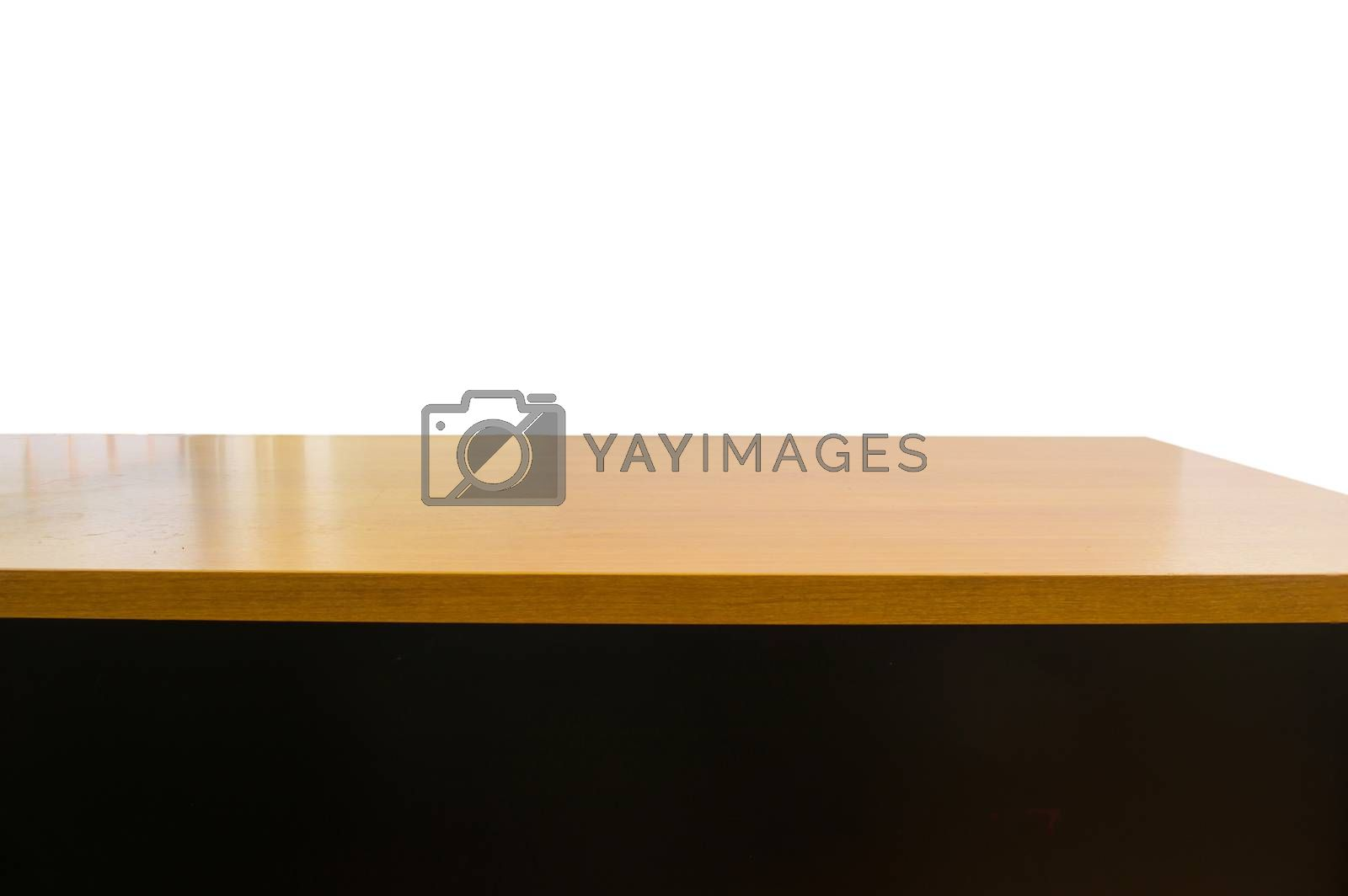 Empty top of the table, isolated with clipping path