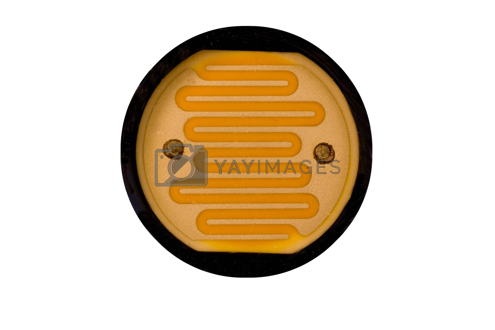 A close up of a Light Dependent Resistor