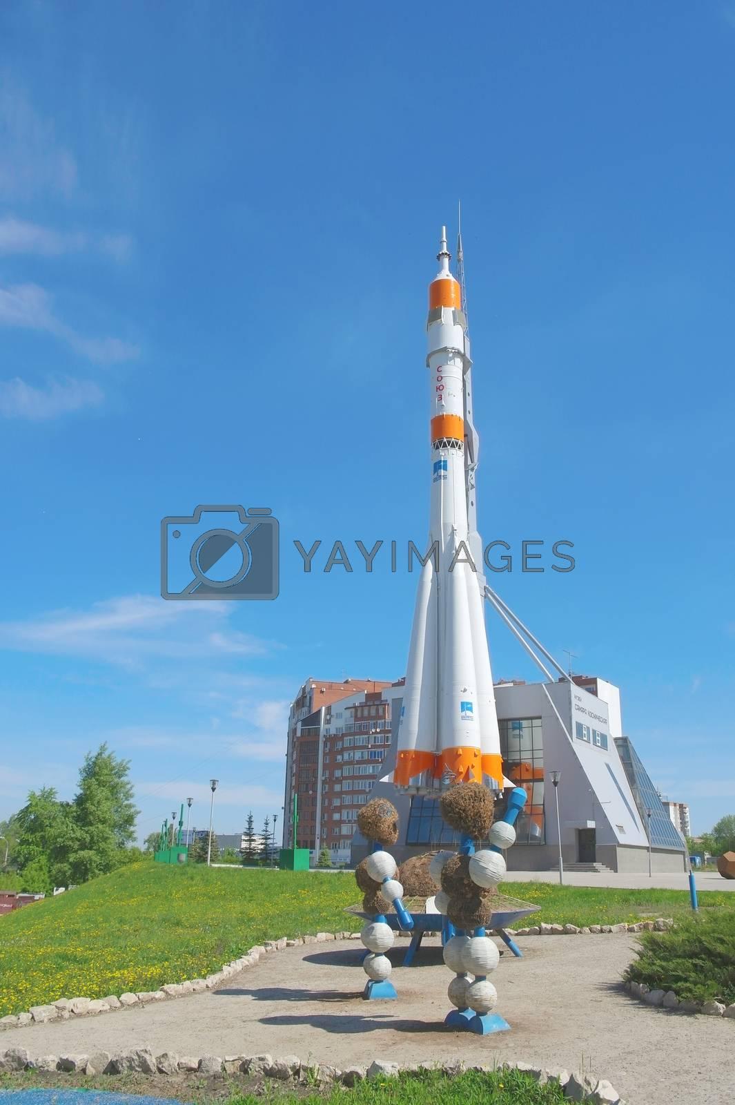Soyuz rocket as monument by sergpet