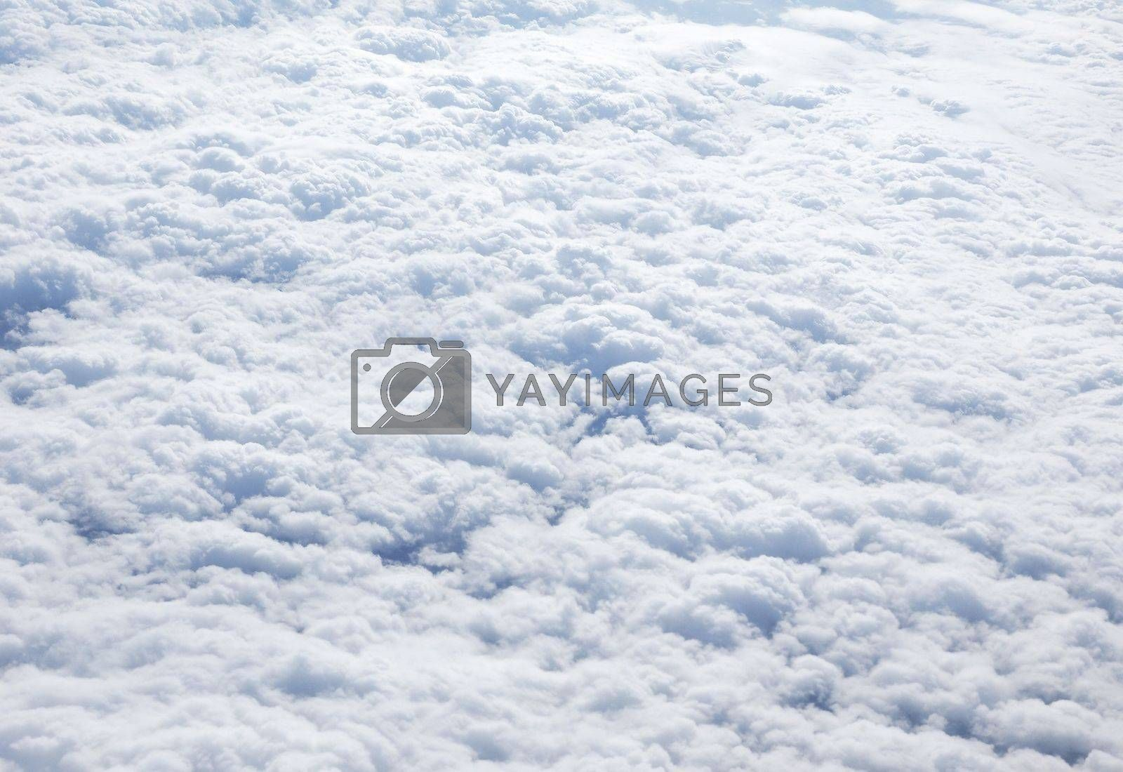 Clouds seen from plane background by claudiodivizia