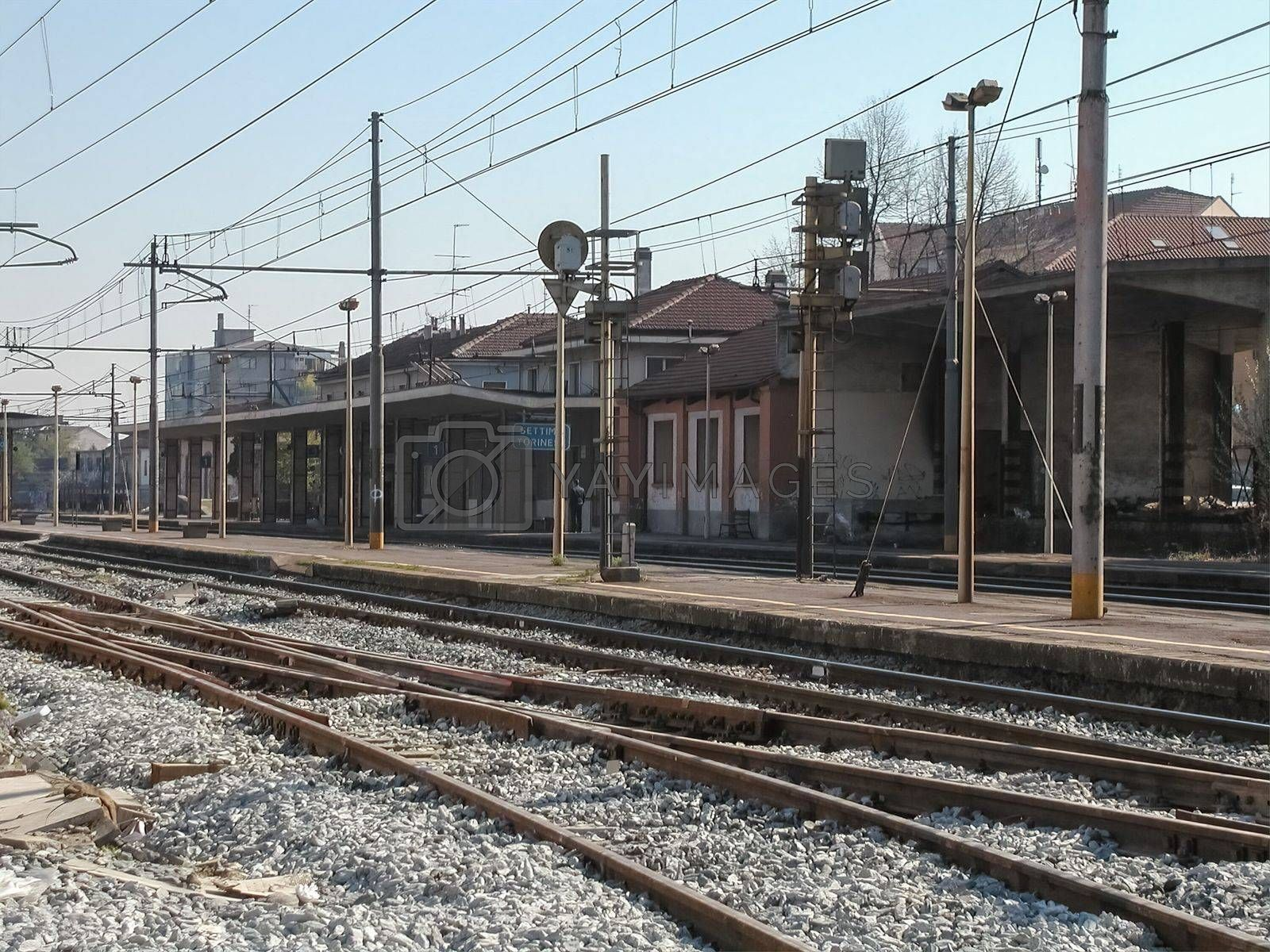 Train station in Settimo Torinese by claudiodivizia