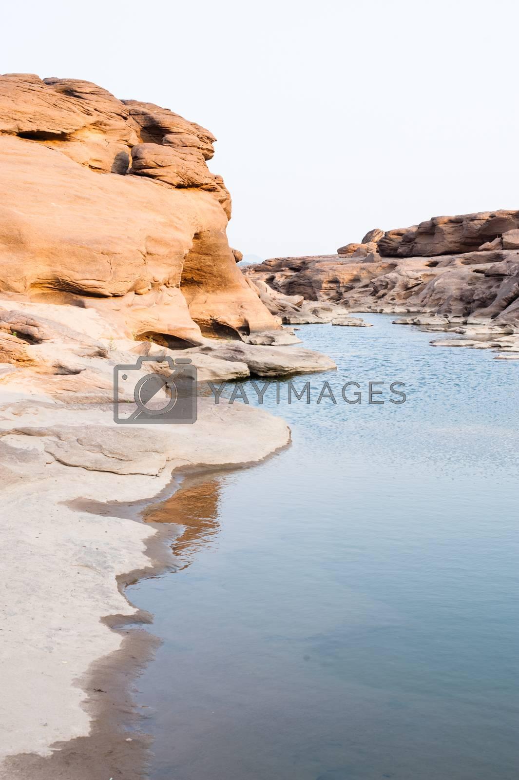 Unseen Sam Pan Bok Grand Canyon, Ubon ratchathani, Northeast of Thailand