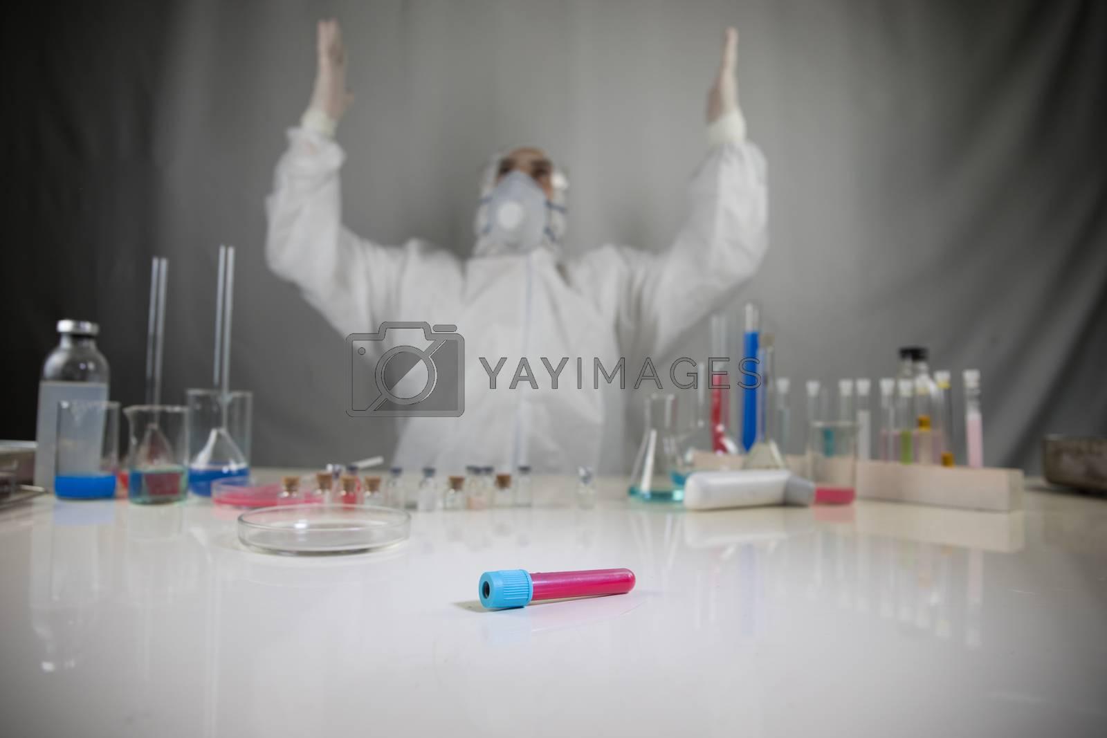 Coronavirus covid 19 reseach laboratory, coronavirus covid-19 vaccine research. by Zeferli