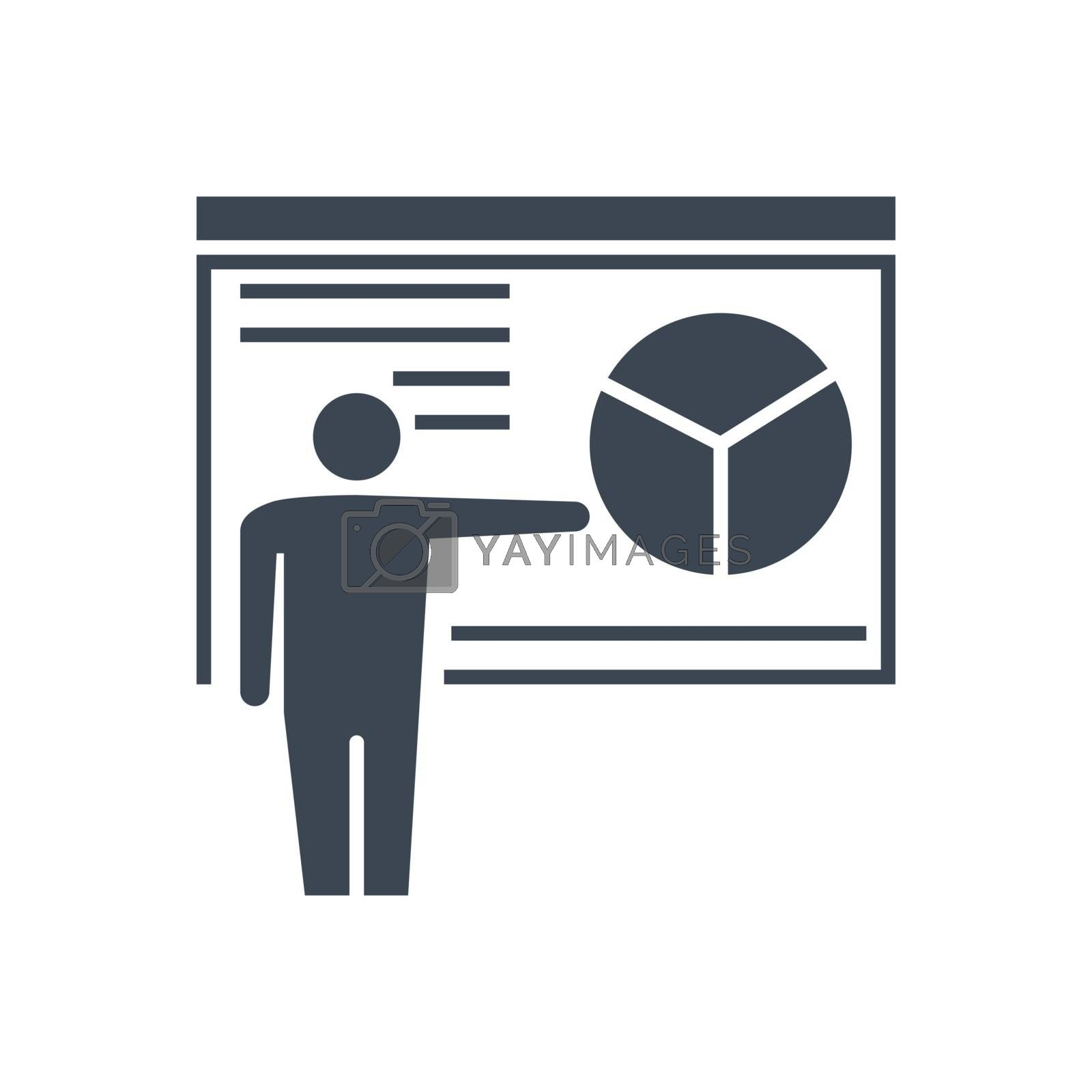 Presentation Related Vector Glyph Icon. Isolated on White Background. Vector Illustration.