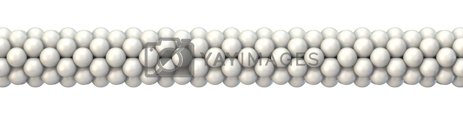White balloons decoration 3D render illustration isolated on white background