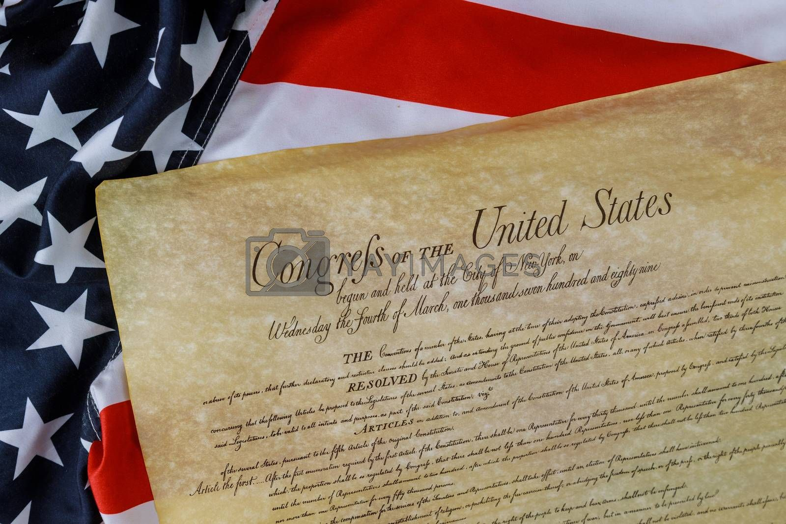 Constitution of the United States of America first of the National Archives in the Constitutional Convention in 1787.