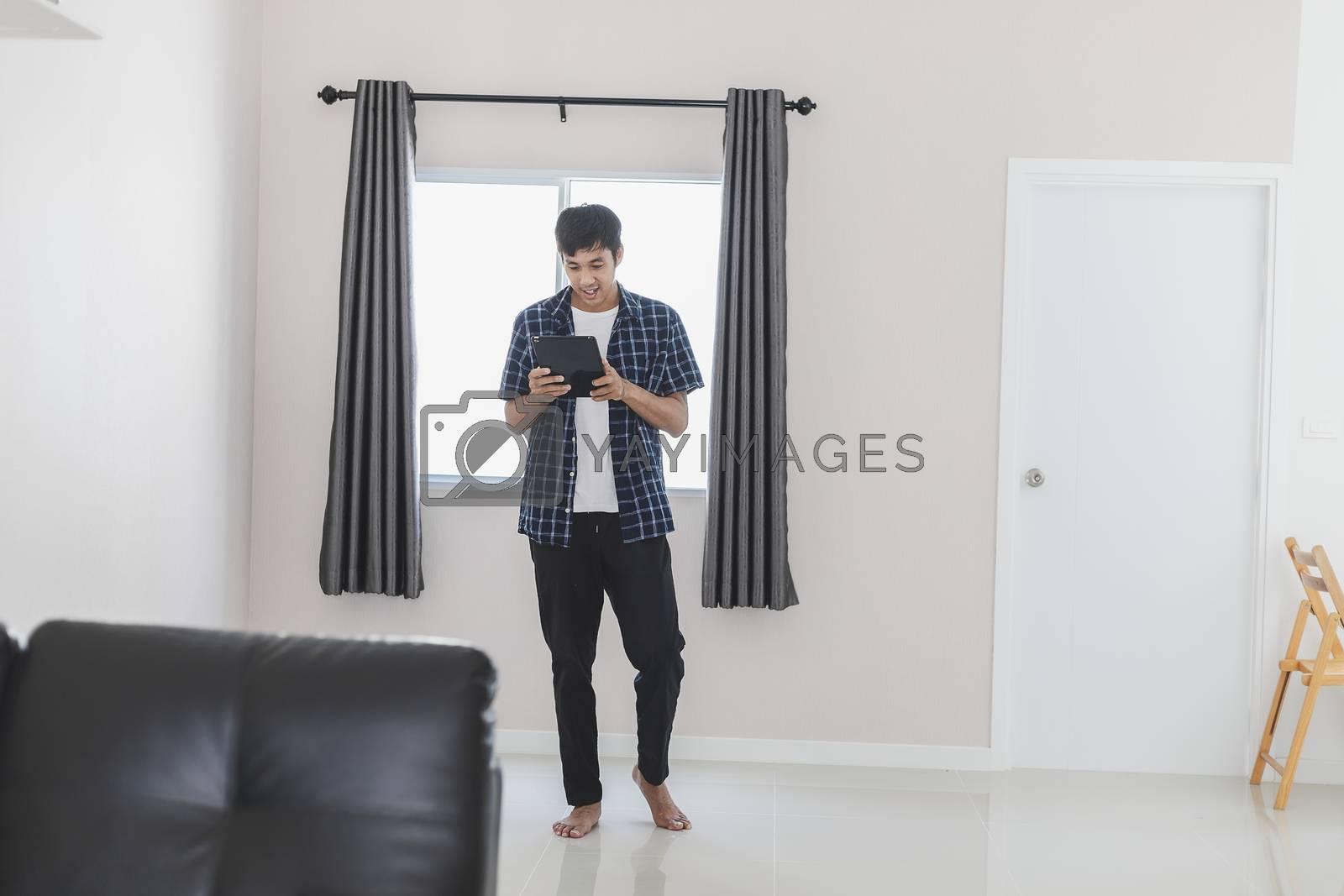Asian man business marketing developer creative working online w by oatzpenzstudio