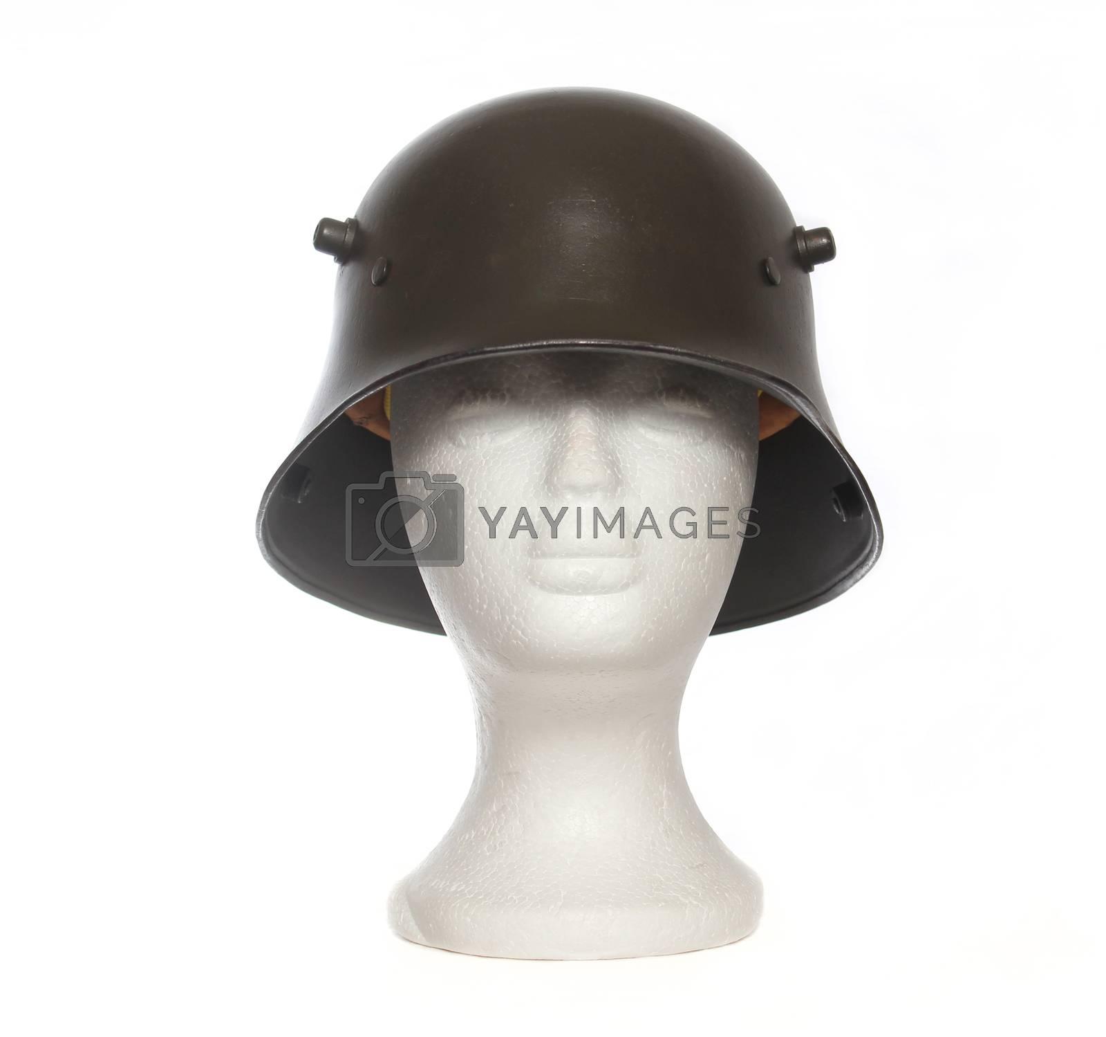 World War 1 German Military Helmet on Mannequin head