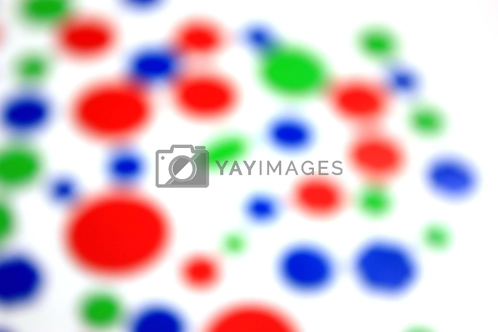 Abstract background. Color bokeh hexagon and circle shape