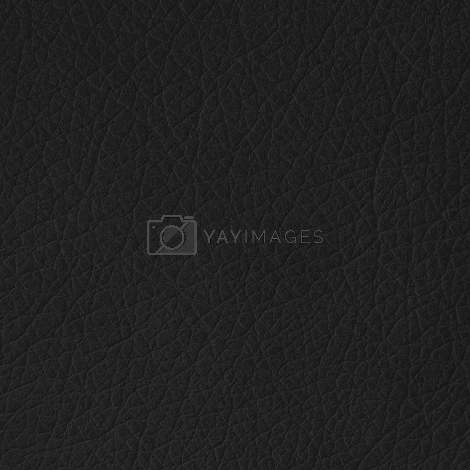 Black leather texture closeup, useful as background