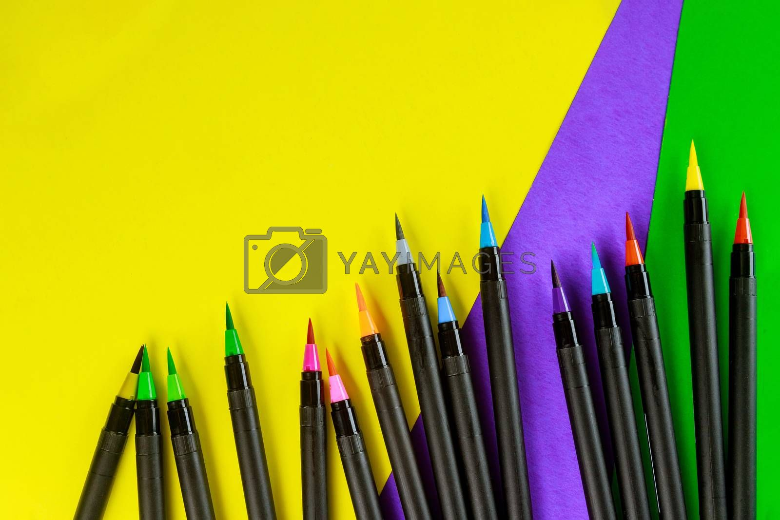 Art painters watercolor pens brush by ungvar